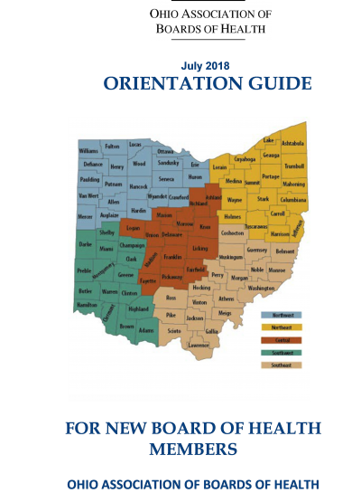 Orientation Guide for New Board of Health Members